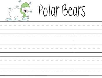 polar writing paper polar writing prompt by april donaldson teachers