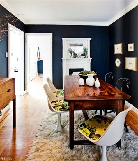 dark blue dining room 5 rooms to create with navy blue walls
