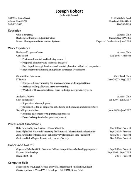 simple resume setup how to set up a resume all resume simple