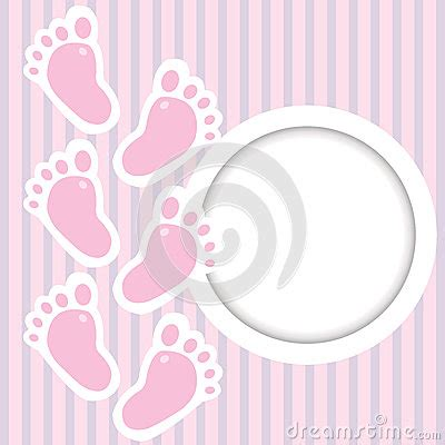 Baby Steps Kotak Pink pink frame with baby steps royalty free stock photos image 35931178