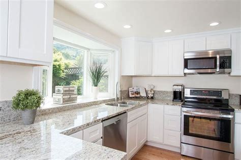 white cabinets with granite colonial white granite countertops pictures cost pros