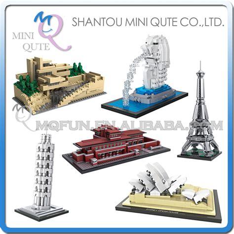 Loz Eiffel Tower mini qute loz world architecture sydney opera house eiffel tower merlion block plastic diy