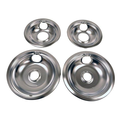 Kitchen Stove Drip Pans by Whirlpool Drip Pan Kit In Chrome W10278125 The Home Depot