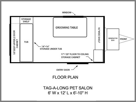 Dog Grooming Salon Floor Plans | floor plans mobile grooming trailers salons mobile dog
