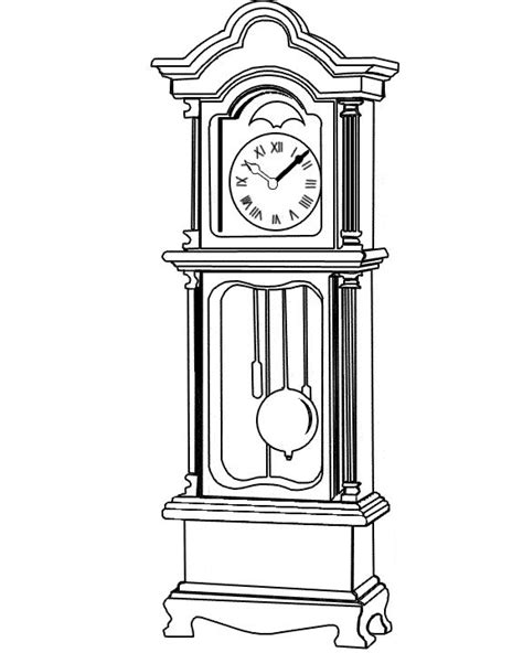 printable grandfather clock 34 best images about project shadows reference on