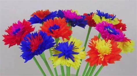 Basteln Mit Krepppapier Anleitung by Papierblumen Aus Krepppapier Basteln Flora Shop Eu