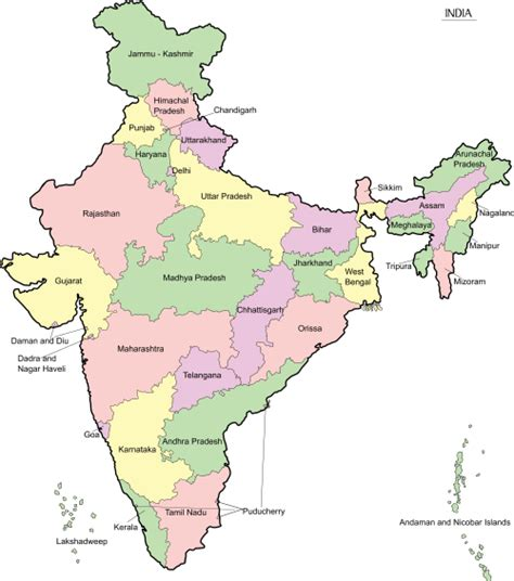 india map with country names india map with states and cities names