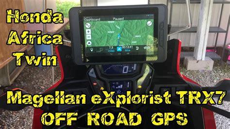 magellan explorist trx  road gps honda africa twin crfl youtube