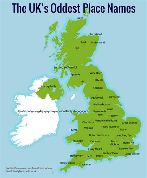 Find In Uk The Uk S Oddest Place Names