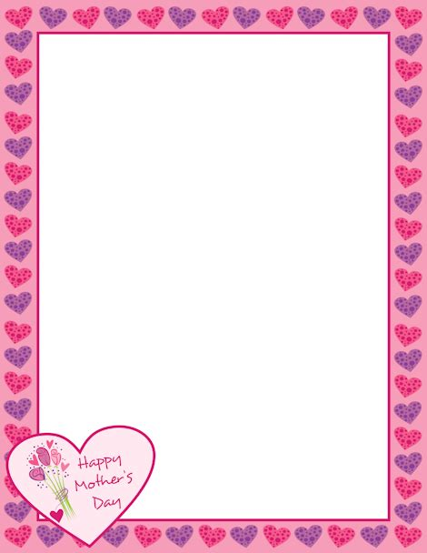 s day printable photo frames borders templates