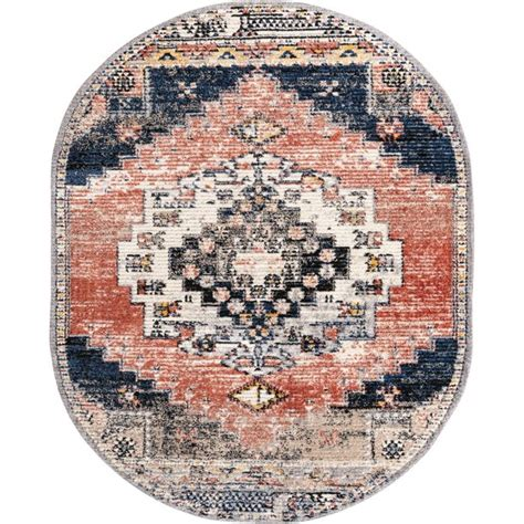 rugscom tucson collection rug  oval rust red