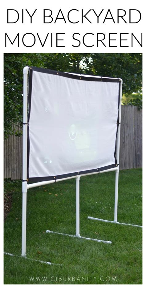 diy backyard projector screen diy backyard screen ciburbanity