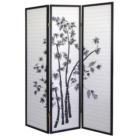 ore international bamboo 3 panel room divider by oj commerce r591 90 54