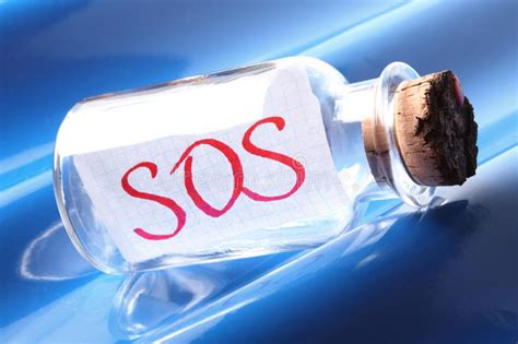 download mp sos just saying an artistic concept of a vintage bottle saying sos stock