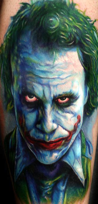 joker tattoo artist 2nd heath ledger joker from dark knight tattoo by paul