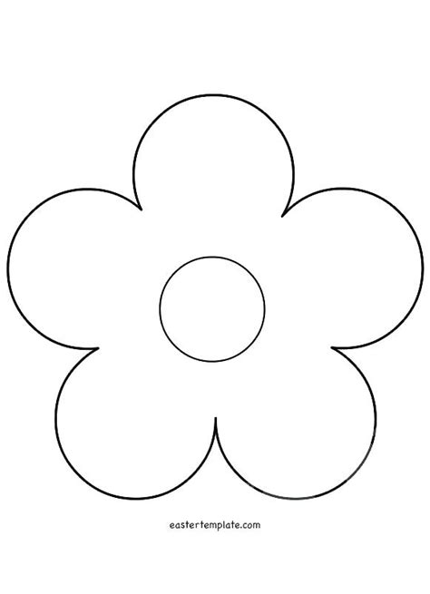 flower template 5 petals related post template to print flower patterns