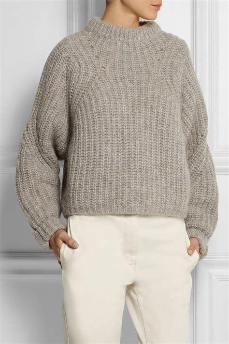 oversized knit sweater lyst marant newt oversized m 233 lange ribbed knit