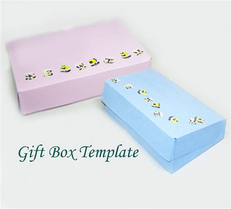 printable jewelry box template printable rectangular jewelry gift box template hinged lid