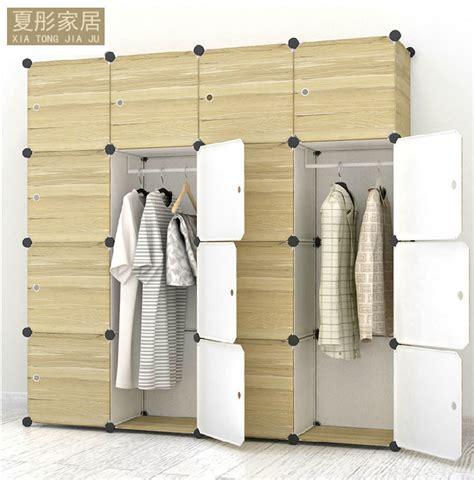 Season Multifunction Wardrobe With Cover Le Limited Large Multi Use Diy Plastic 16 Cube Organizer Portable