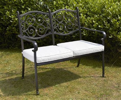 versailles garden bench buy versailles garden bench aluminium 2 seater from our metal garden furniture range