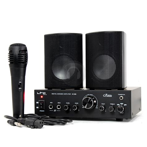 Speaker Karaoke karaoke lifier speaker system with microphone set home pa dj disco mp3 cd ebay