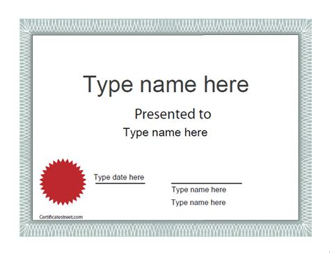 blank award certificate templates best photos of blank certificate templates editable