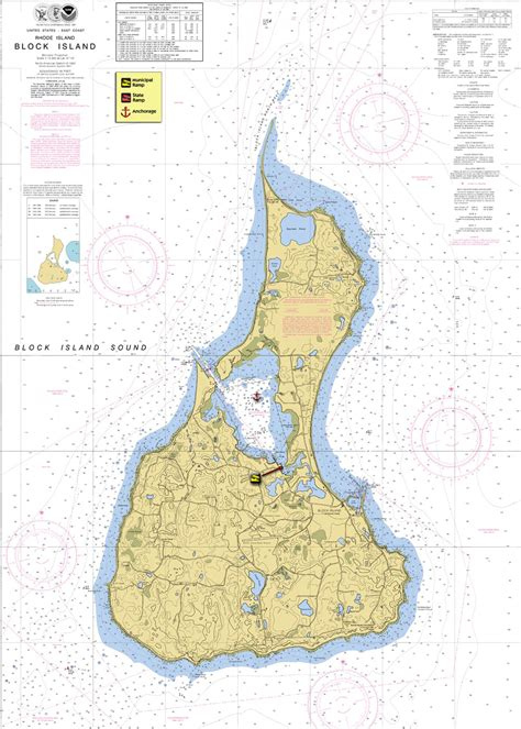 block island map focus on block island newenglandboating