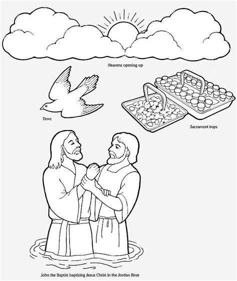 coloring pages jesus is baptized jesus baptism coloring pages az coloring pages