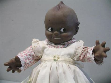 black kewpie doll vtg large cameo black kewpie doll ebay