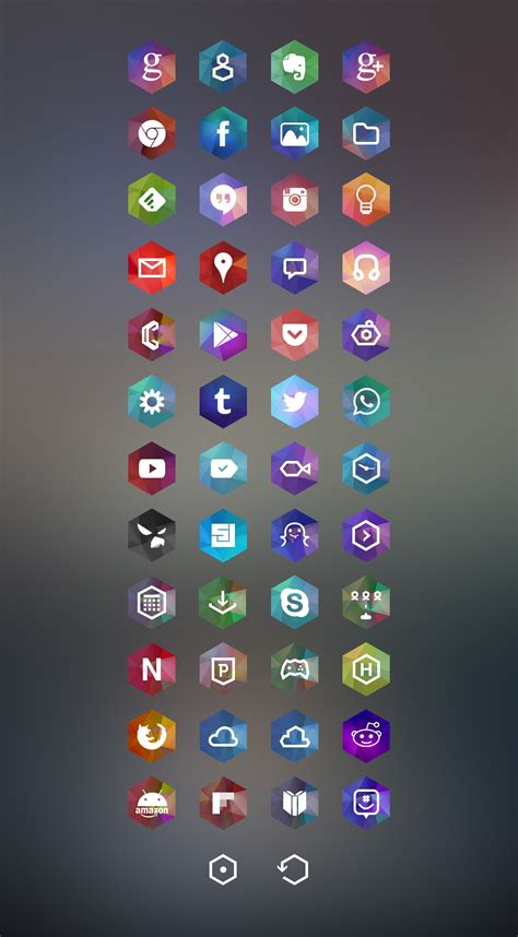 icon themes for android icons hexagon icons android development and hacking