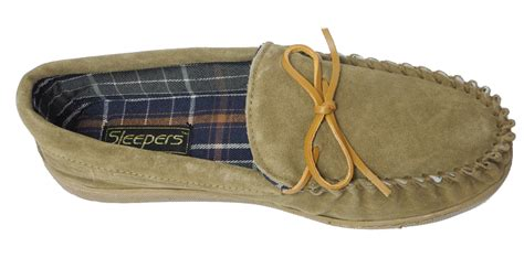 wide mens slippers mens sleepers real suede wide fit leather moccasin