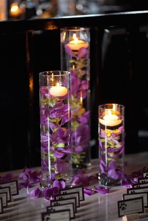 purple floating candles for centerpieces 20 impossibly floating wedding centerpieces