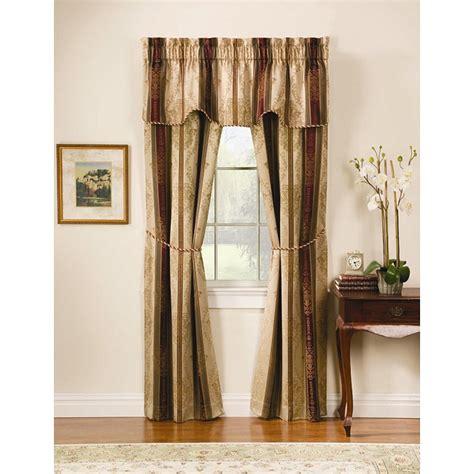 overstock window treatments tuscan jacquard autumn 5 window treatment set