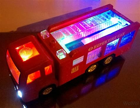 toy fire trucks with lights and sirens wolvol electric fire truck toy with lights sirens and