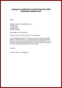 Apology Letter Sle Late Credit Letter Of Explanation For Late Payments Letter