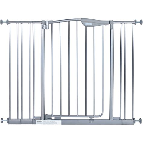 the first years expandable swing gate auto close gate w 2 bar extension in white walmart com