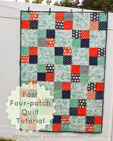 Basic Patchwork Quilt Pattern - 45 beginner quilt patterns and tutorials patch quilt