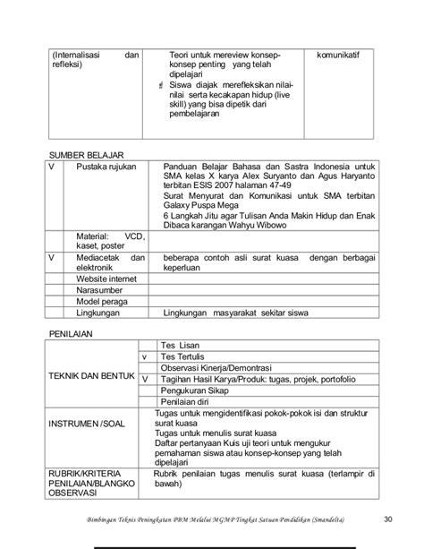 contoh surat kuasa bahasa indonesia kelas xi wisata dan