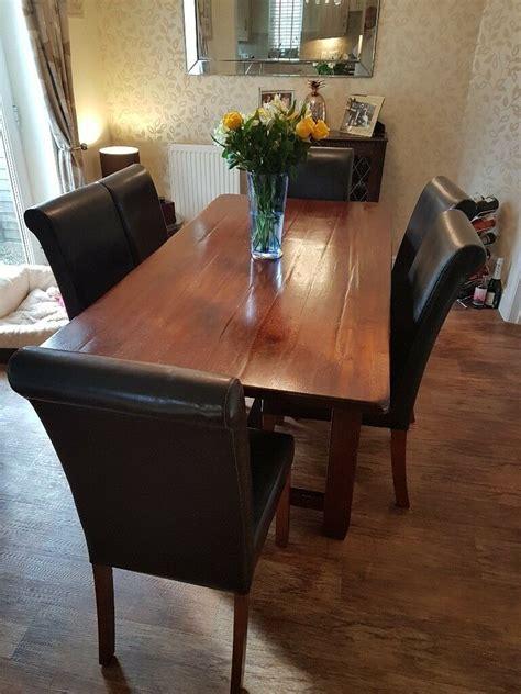 john lewis arabika dining room table   leather chairs