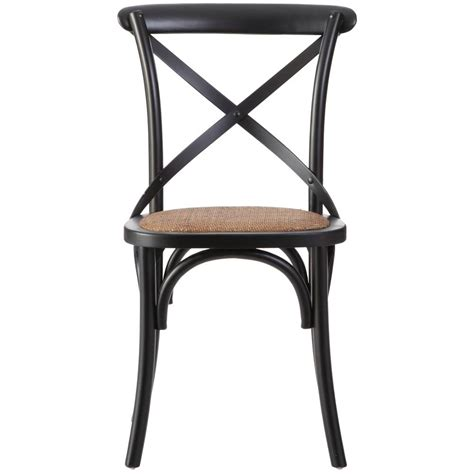 Black Wood Dining Chair Home Styles Countryside Rubbed Black Oak Dining Chair Set Of 2 5519 802 The Home Depot