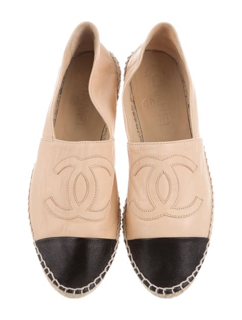 chanel shoes flats chanel lambskin espadrilles flats shoes cha168074