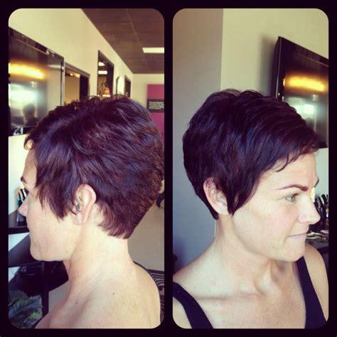 pixie cuts cherry brown amber heater gorgeous hair salon salisbury md 410 677