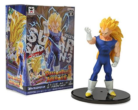 Banpresto Heroes Dxf Set 2 Goku Saiyan 3 Veget banpresto heroes dxf vol 2 with card 6 quot saiyan 3 vegeta figure