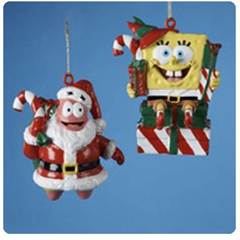 spongebob squarepants santa elf christmas ornaments