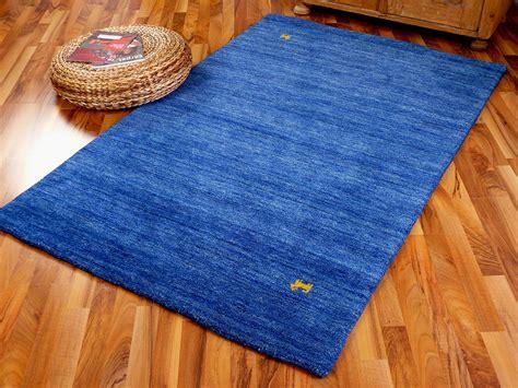 teppich gabbeh indo gabbeh teppich shiva blau uni teppiche nepal gabbeh