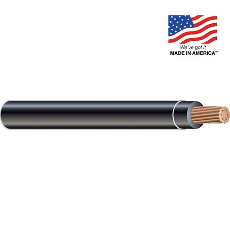 shop 6 awg stranded black copper thhn wire by the foot