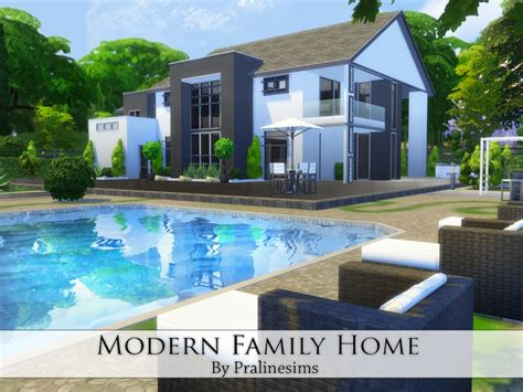 modern family house pralinesims modern family home