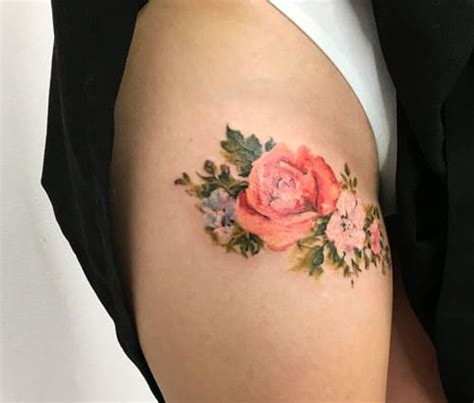 simple rose tattoos on thigh 51 thigh tattoos for designs and ideas