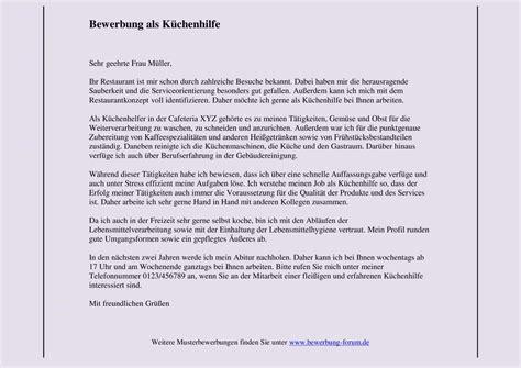 Kfz Lackierer Helfer by K 252 Chenhilfe Bewerbung Schreiben Bewerbungsforum