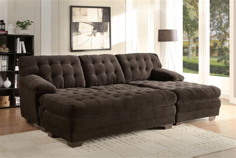 large sectional sofa with chaise large microfiber tufted sofa with chaise and ottoman